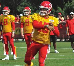 FOLLOWING THE Kansas City Chiefs, seen here in August 2019 at training camp at Missouri Western State College in St. Joseph, on their road to winning Super Bowl LIV was special. The recent death of a friend and fellow Chiefs fan makes that Super Bowl season seem even more special. SHAWN RONEY | Staff