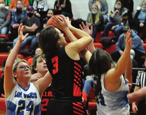 ALYSSA RECHTERMANN, No. 3, helps the Bulldogs avenge their loss to Southwest of Livingston County. SHAWN RONEY | Staff