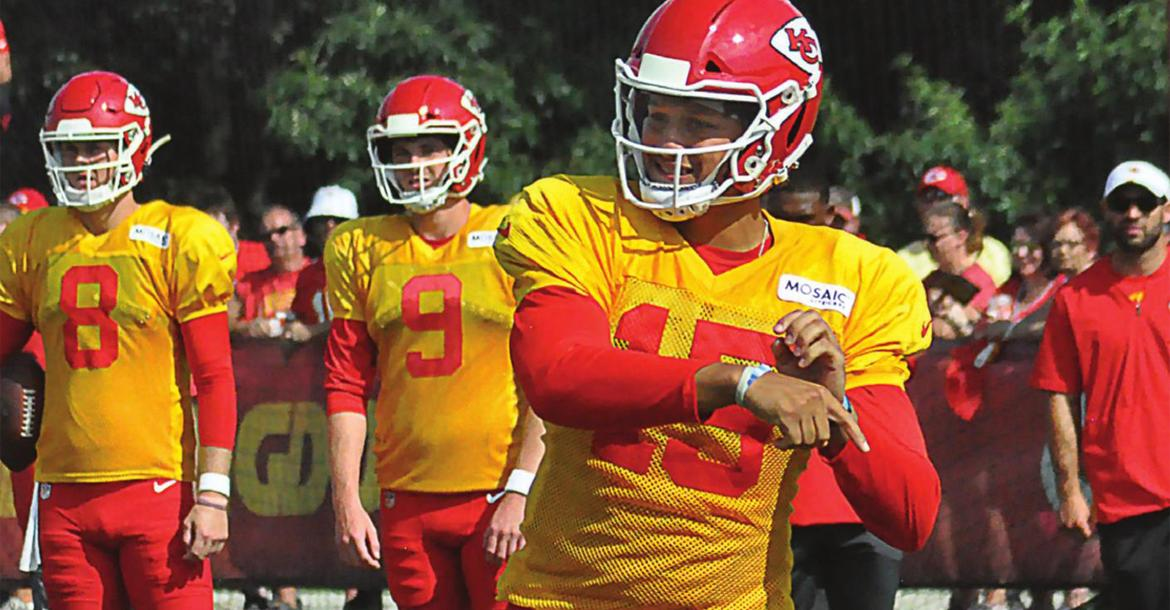 FOLLOWING THE Kansas City Chiefs, seen here in August 2019 at training camp at Missouri Western State College in St. Joseph, on their road to winning Super Bowl LIV was special. The recent death of a friend and fellow Chiefs fan makes that Super Bowl season seem even more special.